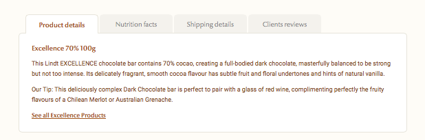 Lindt Product Description